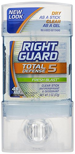 Right Guard Total Defense 5 Clear Stick Antiperspirant/Deodo