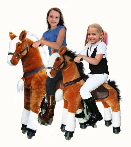UFREE Large Mechanical Horse Toy, Ride on Bounce up and down and Move, Ponycycle- Size Big 42'' for Children 4 to 16 Years Old