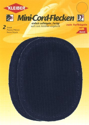 Kleiber Iron-on or sew on elbow and knee patches, Dark Blue, 2 per pack by Kleiber