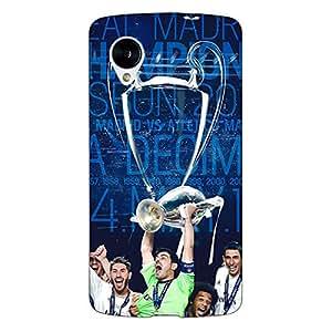 Jugaaduu Real Madrid La Decima Back Cover Case For Google Nexus 5