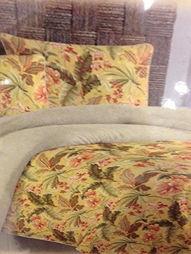 Tommy Bahama Key Largo Tropical Yellow Orange Green King Comforter Set front-780689