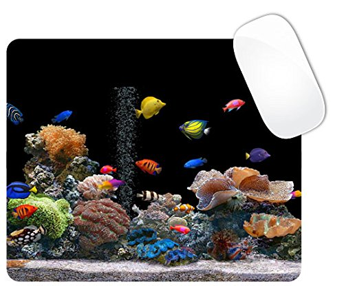 Colorful Fish Tank Square Mouse Pad