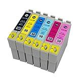【むさしのメディアオリジナル】エプソン互換 IC6CL50 6色セット ICチップ(残量表示機能)付き [フラストレーションフリーパッケージ(FFP)]