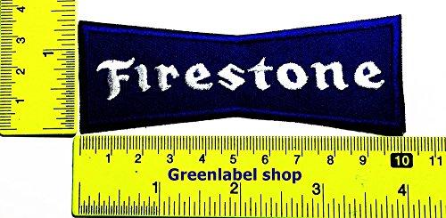 Firestone Tires Sign Sponsor Motorsport Biker Racing Patch Logo Sew Iron on Embroidered Appliques Badge Sign Costume Send Free Registration