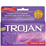 51Bq1PRtk%2BL. SL160  Trojan Her Pleasure Spermicidal Lubricant Premium Latex Condoms 12 ct (Pack of 3)