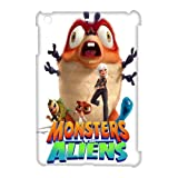 Cartoons 3-D Comedy Science Fiction Film Monsters vs. Aliens Lovely White Ipad Mini Case, Monsters vs. Aliens Ipad Case Art
