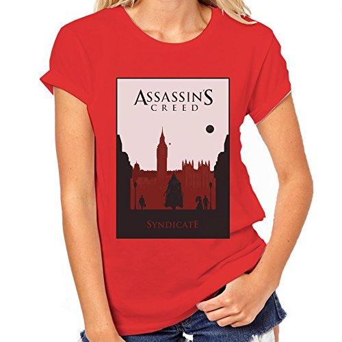 Assassin's Creed Syndicate-Maglietta classica da donna rosso XXL