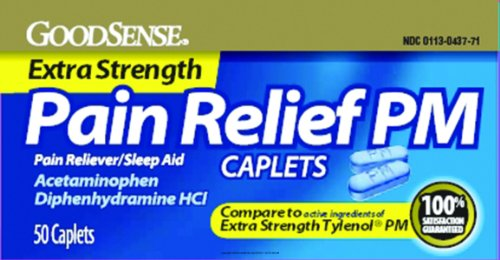Extra Strength Pain Relief Pm, Xtra Str Pain Rlf Pm 50Ct, (1 Box, 50 Each)