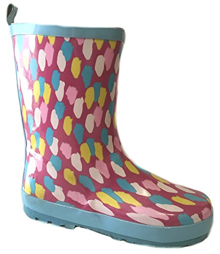 Shoes8teen Girls Printed Rain Boots 4000 Splatter 2/3 (Rain Boots Printed compare prices)