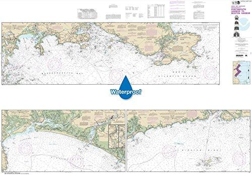 NOAA Chart 13274: Portsmouth Harbor to Boston Harbor; Merrimack River Extension, 41 X 59, WATERPROOF safe harbor