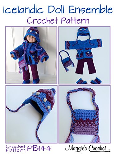 Icelandic Doll Ensemble - Paid and Free Crochet Patterns for 18-inch Dolls Like the American Girl Doll