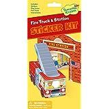 Peaceable Kingdom / Fire Truck & Station Quick Sticker Kit