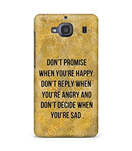 AMEZ dont promise when you are happy Back Cover For Xiaomi Redmi 2S