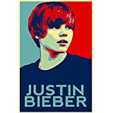 Wall1ders Fiery Hope Justin Beiber Poster (12x18) Paper Print
