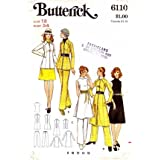 Butterick 6110 Vintage Sewing Pattern Misses Dress Blouse Jacket Pants Size 12 Bust 34