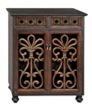 Wood Wine Cabinet 30 Inches Wide by Benzara