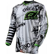 O'Neal Youth Element Toxic Motocross Jersey Black/Green Extra