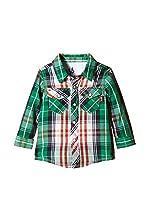 Guess Camisa Niño Ls (Verde / Rojo)