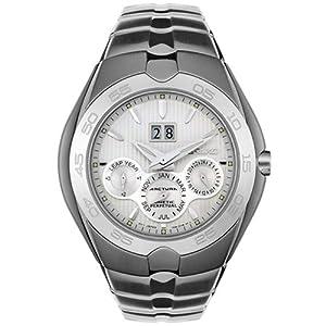 Seiko Men's SNP009 Arctura Kinetic Perpetual White Dial Watch