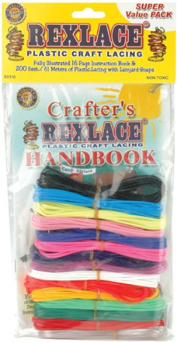 Pepperell Rexlace Plastic Craft Lacing, 200-Feet, Assorted - 1