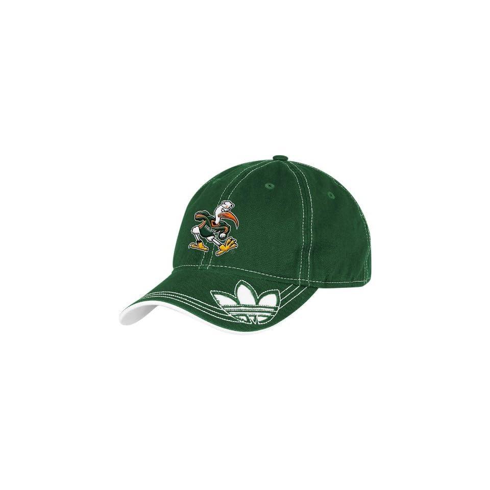 aee565fe1c02d Miami Hurricanes Adidas Originals Trefoil Logo Adjustable Hat on ...