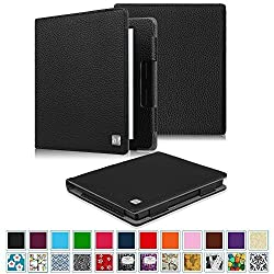 Fintie Folio Case for Kindle Oasis - Fintie Book Style Premium Vegan Leather Cover with Auto Sleep/Wake Feature for Amazon New Kindle Oasis (2016 Released), Black