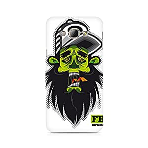 Mobicture Green Skull Premium Printed Case For Samsung A8