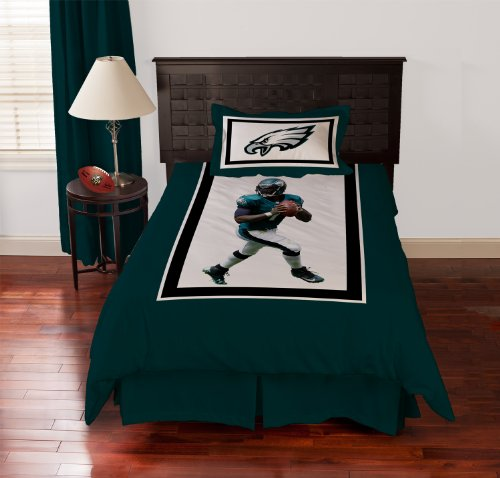 Nfl Biggshots Bedding - Philadelphia Eagles Mike Vick Comforter Set, Twin front-924216