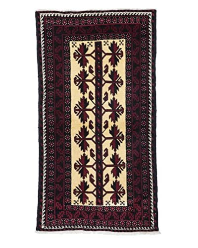 "Solo Rugs Authentic Persian Tribal Rug, Red, 3' 2"" x 5' 9"""