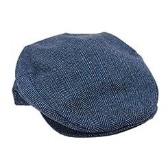Limited Edition Irish Tweed Cap Blue Herringbone