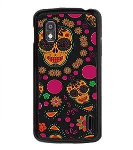 Colourful Skull Wallpaper 2D Hard Polycarbonate Designer Back Case Cover for LG Nexus 4 E960 :: LG Nexus 4 :: LG Mako