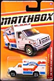 '08 FORD E-350 AMBULANCE * WHITE * Emergency Response Series (#6 of 11) MATCHBOX 2011 Basic Die-Cast Vehicle (#54 of 100)