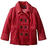 Dollhouse Little Girls'  Classic Peacoat with Ruffle Back