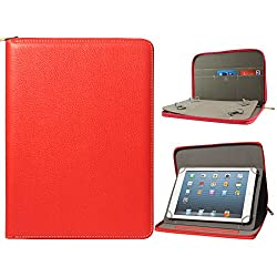 DMG Premium Stitched Durable Portfolio Bag with Accessory Pockets for Digiflip Pro ET701 (Red)