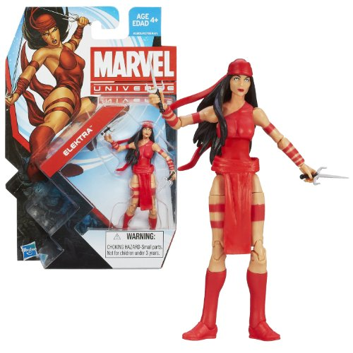 Hasbro Year 2013 Series 5 Marvel Universe Single Pack 4 Inch Tall Action Figure #006 - ELEKTRA with 2 Sais (Marvel Universe Rogue compare prices)