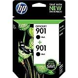 HP 901 Black Original Ink Cartridges, 2 pack (CZ075FN)