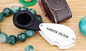TC Hand-held Jade Identification Jadeite Charles Filter Jeweller Tester Tool TJF01 (Color: Black+silver, Tamaño: 90mm x 30 x 5mm)