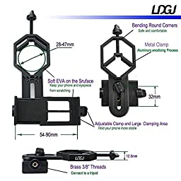 LDGJ Universal Cell Phone Adapter Mount - Compatible with Binocular Monocular Spotting Scope Telescope and Microscope - For Iphone Sony Samsung Moto Etc -Record the Nature of the World