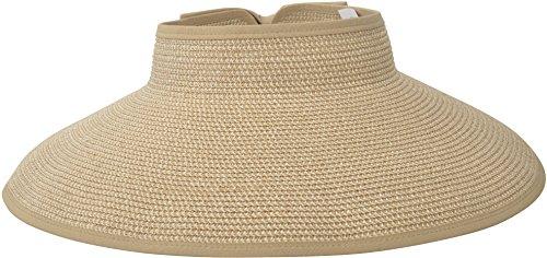 simplicity-womens-wide-brim-roll-up-straw-hat-sun-visor-beige-brown