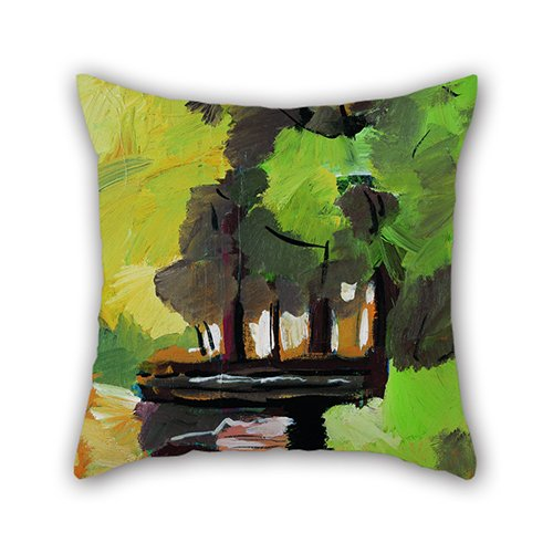 Beautfuldecor Home Decoration Vibrant Forest Pillowcase 20X20 InchThrow Cushion Cover