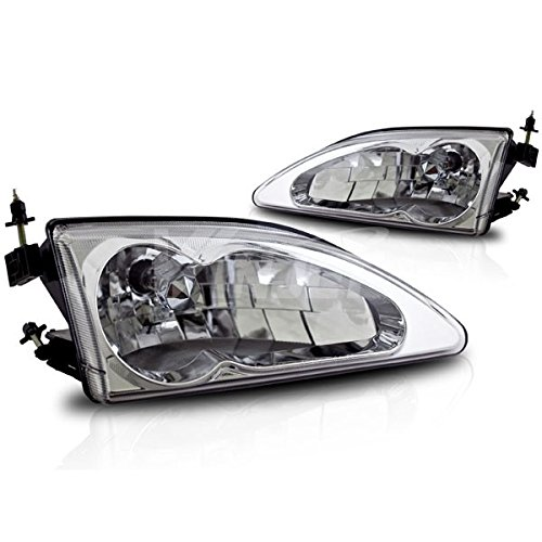 Starr Lite 94-98 Ford Mustang Cobra Crystal Head Lights - (Chrome / Clear)
