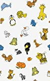Childrens Cute Animal Design Self Adhesive Decorative Vinyl Paper (Sold by Metre)