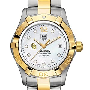 University of Oklahoma TAG Heuer Watch - Ladies Two-Tone Aquaracer Watch by TAG Heuer