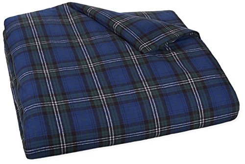 Fantastic Deal! AmazonBasics Yarn-Dyed Lightweight Flannel Duvet Cover - Twin, Blackwatch Plaid