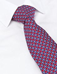 Sartorial Made in Italy Pure Silk Geometric Print Tie