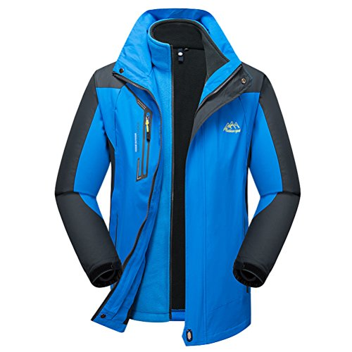Bcamel Men's Winter 2 Piece Thicker Fleece Hooded Windproof Waterproof Insulated Warm Snowboard Ski Jacket Coat Outdoor Wear (Weatherproof Quilted Boots compare prices)