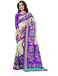 Miraan Kora Silk Saree (Vi4256_Purple)