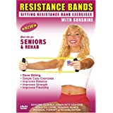 Senior, Elderly Sitting Chair Pilate's Exercise DVD with Resistance Bands (Comes with 2 Resistance Bands) Great for Strength, Balance & Basic Rehab- Certified by ACE The American Council On Exercise & AIFE American Institue of Fitness Instructors ~ Sunshine