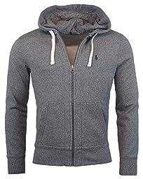Polo Ralph Lauren Heathered Mens Full Zip Hooded Sweater Gray 2XL