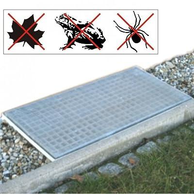 Lichtschacht Abdeckung Netz 120x60cm Aluminium Gitter Lichtschachtnetz Schutz von Sonstige bei Gartenmöbel von Du und Dein Garten